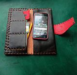 Тревел-кейс кожаный для смартфона карточек банка документов, фото 2