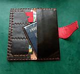Тревел-кейс кожаный для смартфона карточек банка документов, фото 7