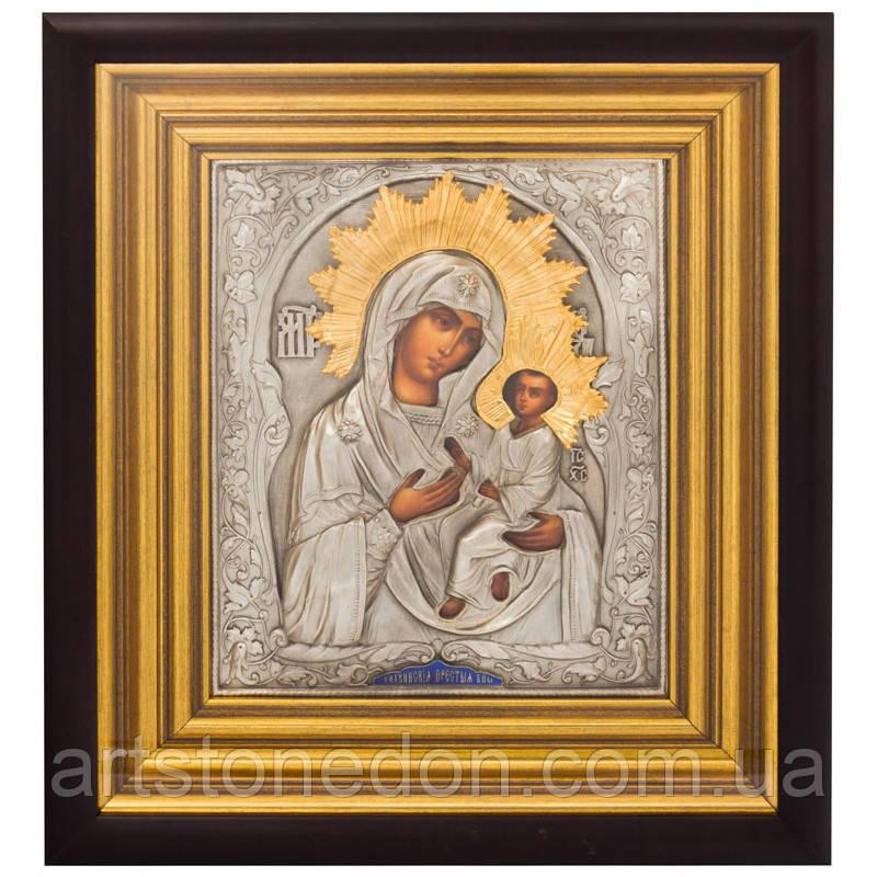 Икона с позолотой Богоматерь Тихвинская