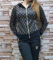 Женский стильный турецкий костюм на флисе разм XL,XXL (52,54)