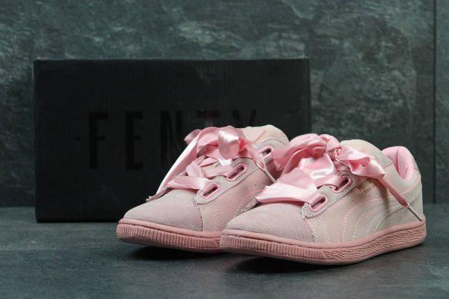 c35d8525 Женские кроссовки Puma Suede Bow Кеды Замша цвет Розовый: продажа ...