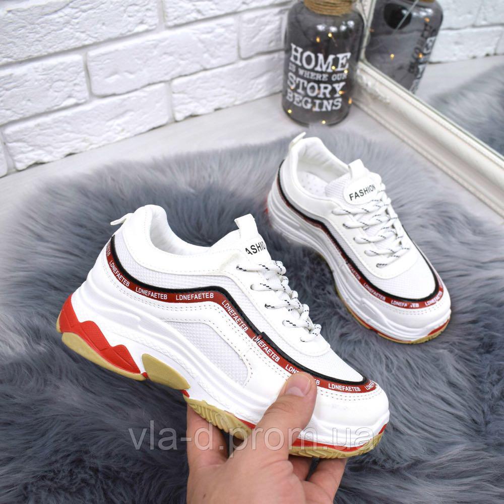 Женские кроссовки белые с красными вставками - Vlad в Закарпатской области 75db3f3e178