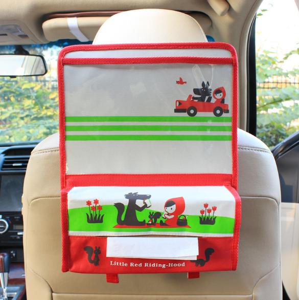 Органайзер с карманом для планшета в автомобиль детский Бежевый (04151)