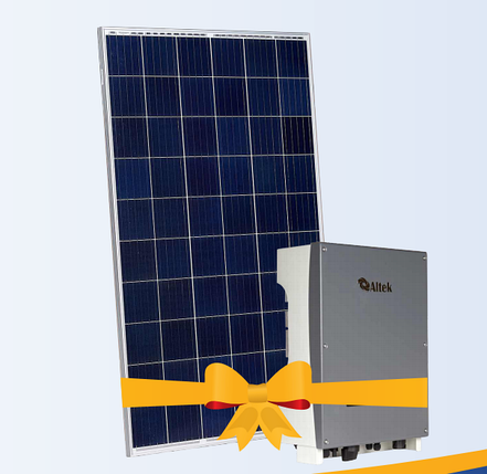 """Солнечная электростанция 5 кВт под """"Зеленый тариф"""", комплект RSM60-6-270P 5BB, инвертор Altek, фото 2"""
