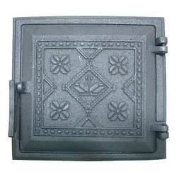 Двері чавунна пічна топкова Вишиванка (265х245)