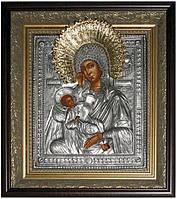 Икона с позолотой Богоматерь Утоли моя печали