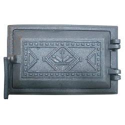 Двері чавунна пічна піддувальна Вишиванка (260х165)