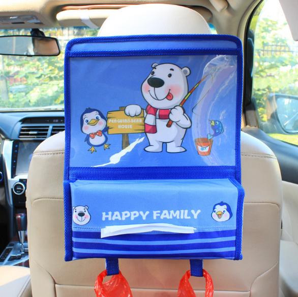 Органайзер с карманом для планшета в автомобиль детский Синий (04153)