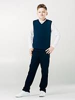 Жилет синий для мальчика ТМ SMIL (р. 122, 134) 116351