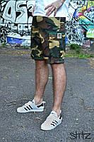 Летние камуфляжные мужские шорты/бриджи/капри карго с карманами адидас (Adidas)