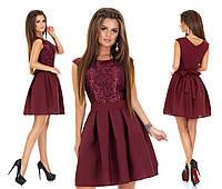 Женское нарядное платье с гипюром мод.7240, фото 1