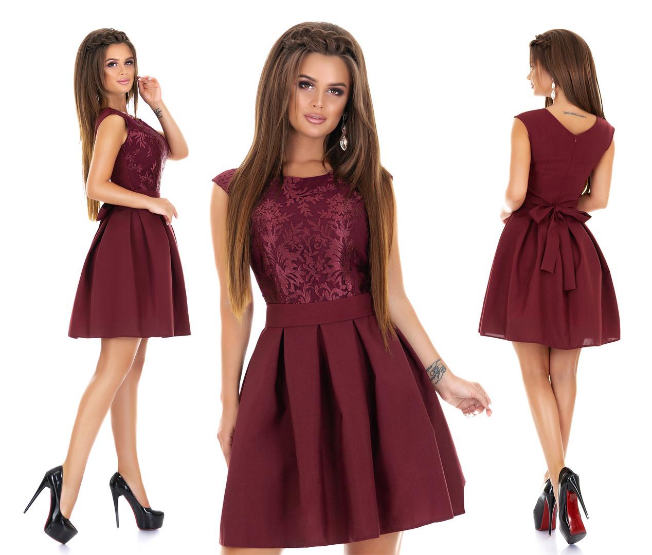 Женское нарядное платье с гипюром мод.7240