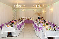 Сиреневые банты на стулья, прокат г. Сумы, оформление свадьбы