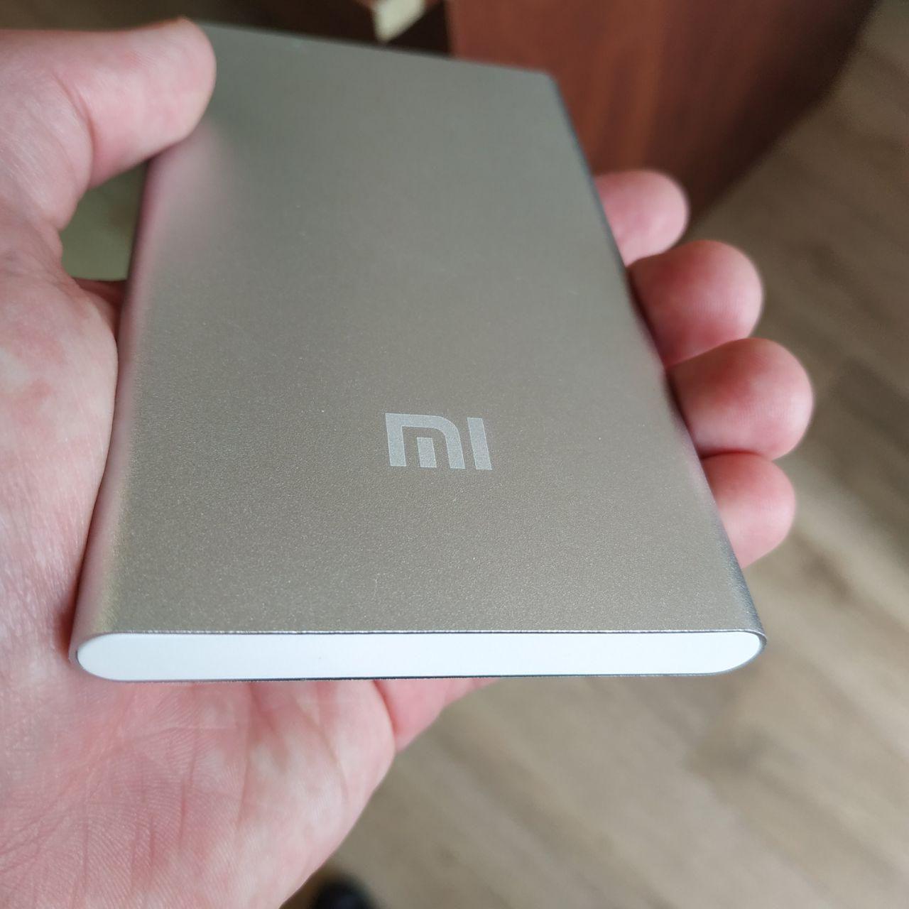 Портативная зарядка Павер банк Mi внешний аккумулятор Xiaomi Power Bank 12800 мАч тонкий серый реплика, фото 1
