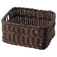 ✅ IKEA GABBIG (703.220.64) Корзина, темно-коричневый