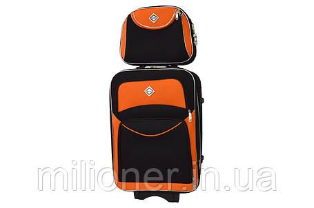 Комплект чемодан + кейс Bonro Style (небольшой) черно-оранжевый, фото 2