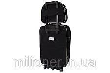 Комплект чемодан + кейс Bonro Style (небольшой) черно-розовый, фото 2