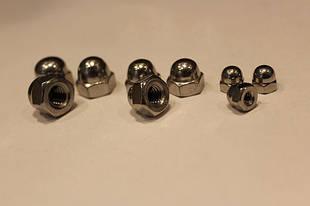 Колпачковые гайки DIN 1587, ГОСТ 11860-85 оцинкованные, класс прочности 6.0
