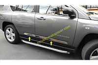 Хром молдинг дверной Jeep Compass 2006-2016 (Джип Компас)