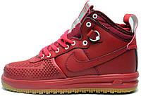 fa24e58e Nike Lunar Force 1 Duckboot Red | кроссовки мужские; высокие; красные;  кожаные