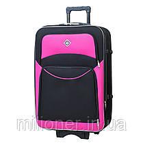 Комплект чемодан + кейс Bonro Style (небольшой) черно-розовый, фото 3