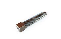 Винт ГОСТ 1485-84 установочный с квадратной головкой и засверленным концом, стальной, латунный