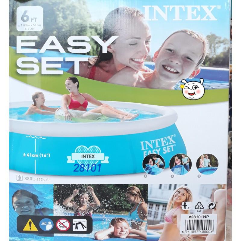 Надувной бассейн intex 28101 183 x 51(41) см детский +3