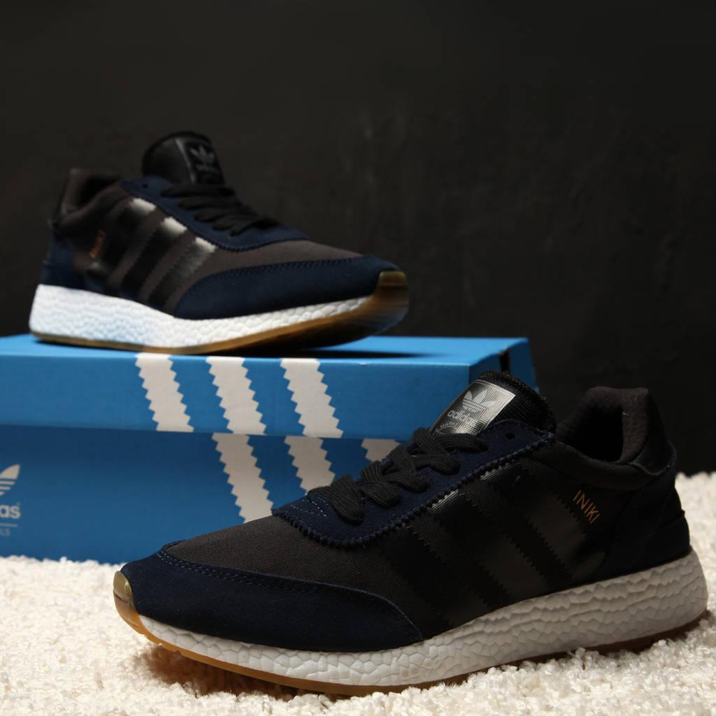 Adidas Iniki Runner Boost Blue Black (реплика)