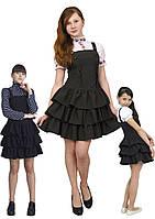 Платье - сарафан школьный  М -944  рост  134 140 152 и 158, фото 1