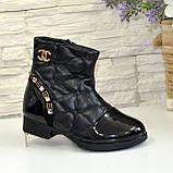 Ботинки демисезонные для девочки, черный цвет. Размер: 27,28, фото 2