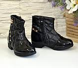 Ботинки демисезонные для девочки, черный цвет. Размер: 27,28, фото 4