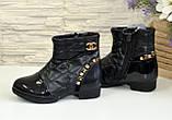 Ботинки демисезонные для девочки, черный цвет. Размер: 27,28, фото 3