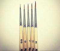Кисть для росписи Roubloff Круглая 1010 №1,5 (5шт в упаковке), фото 1