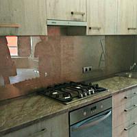 Фартук кухонный из стекла прозрачный, стеновая панель из стекла, скинали, ФК2