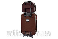 Комплект чемодан + кейс Bonro Style (небольшой) коричневый, фото 2