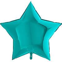Фольгированная звезда без рисунка, большая, тиффани