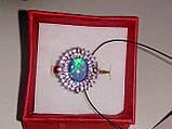 Огненный опал кольцо в серебре. Кольцо с опалом 15 размер., фото 2