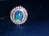 Огненный опал кольцо в серебре. Кольцо с опалом 15 размер., фото 4