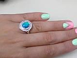 Огненный опал кольцо в серебре. Кольцо с опалом 15 размер., фото 5