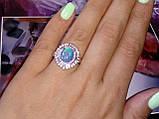 Огненный опал кольцо в серебре. Кольцо с опалом 15 размер., фото 3