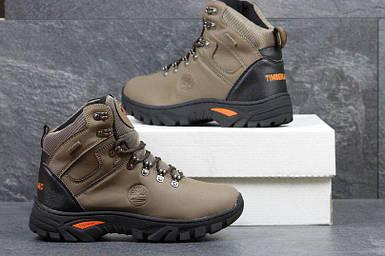 Мужские ботинки Timland прессованная кожа цвет коричневый