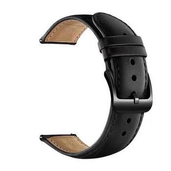 Кожаный ремешок Primo для часов Xiaomi Amazfit Bip/Amazfit Bip GTS/Amazfit Bip Lite - Black