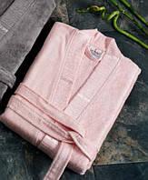 Халат Le vele бамбуковое волокно розовый Турция