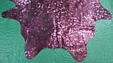 Малиново фиолетовая шкура с металлик эффектом, фото 3