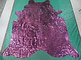 Малиново фиолетовая шкура с металлик эффектом, фото 2