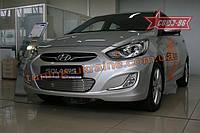 Декоративные элементы воздухозаборника d10 Союз 96 на Hyundai Solaris 2010-2014
