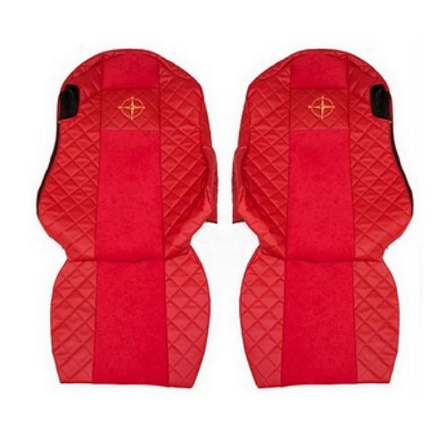 Копия Чехлы на сидения SCANIA R,G,P, красные(6952)