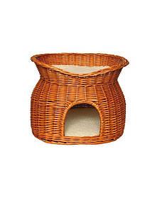 TRIXIE Домик для кошек плетеный двухярусный
