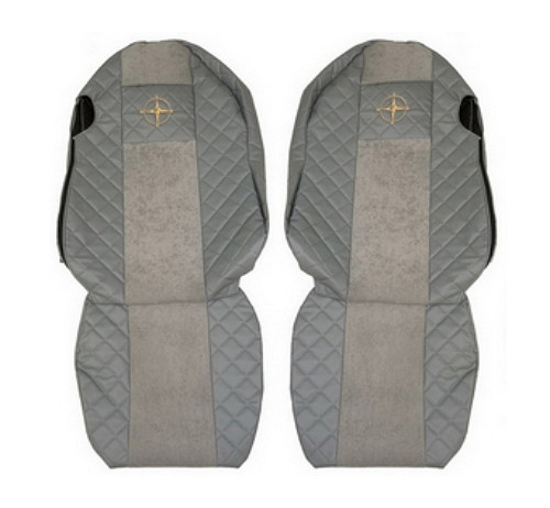 Чехлы на сидения SCANIA R,G,P, серые, сидения разной высоты(6955)