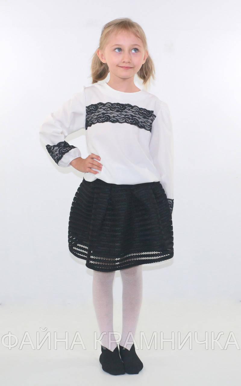 """Блуза """"Софт гіпюр"""" р-р.122-146"""
